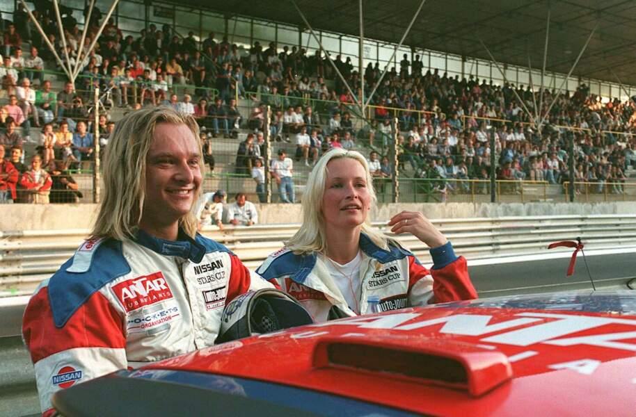 David Hallyday et Estelle Lefébure au Nissan Star Cup en 1996