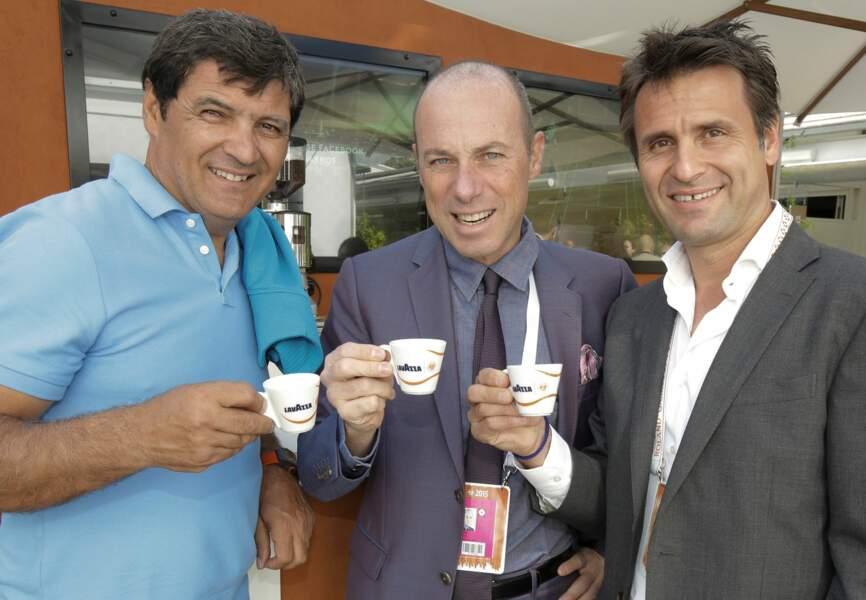 Toni Nadal, Giuseppe Lavazza et Fabrice Santoro