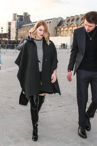 Léa Seydoux avait choisi le défilé Louis Vuitton pour faire sa première apparition depuis la naissance de son fils