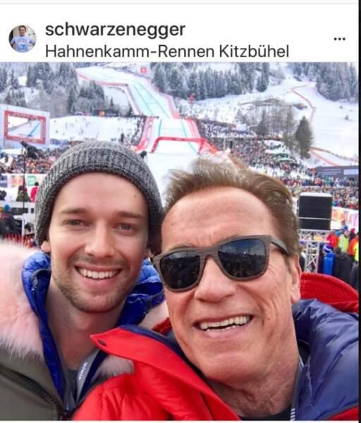 Arnold Schwarzenegger et son fils, Patrick
