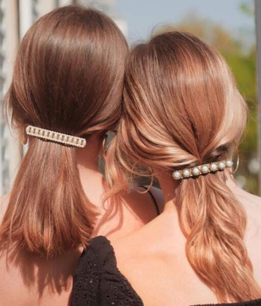 Les jolies barrettes de Scrunchie is Back pour des queue-de-cheval basse