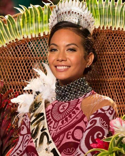 Vaimalama Chaves, 23 ans, a été sacrée Miss Tahiti et tentera de devenir Miss France 2019