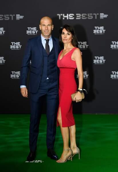 Zinédine Zidane et sa femme Véronique le 9 janvier 2017
