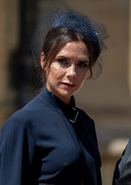 Victoria Beckham (44 ans), élégante au mariage de Meghan Markle et du Prince Harry.