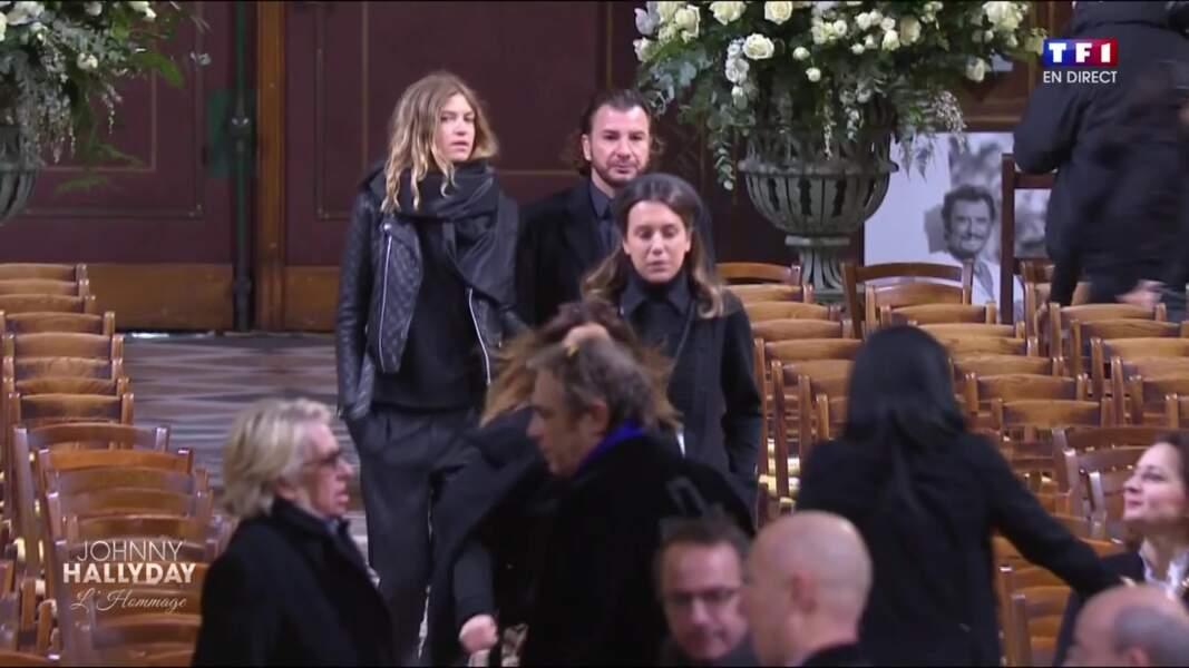 Cérémonie hommage à Johnny Hallyday : Michael Youn et Isabelle Furnaro