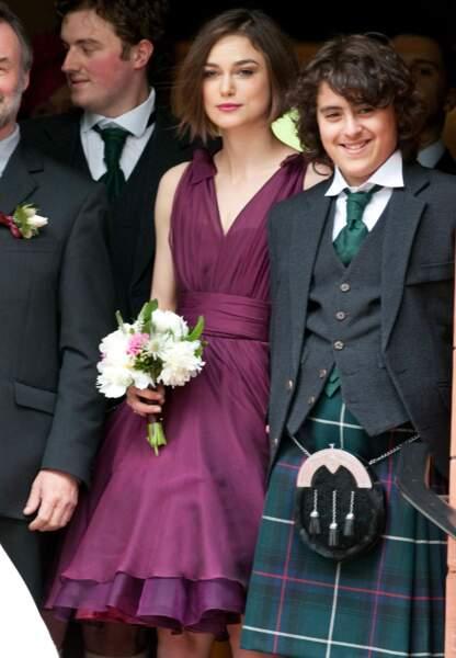 Keira Knightley en avril 2011 au mariage de son frère