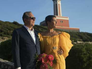 Cristina Cordula sublime dans sa robe de mariée jaune