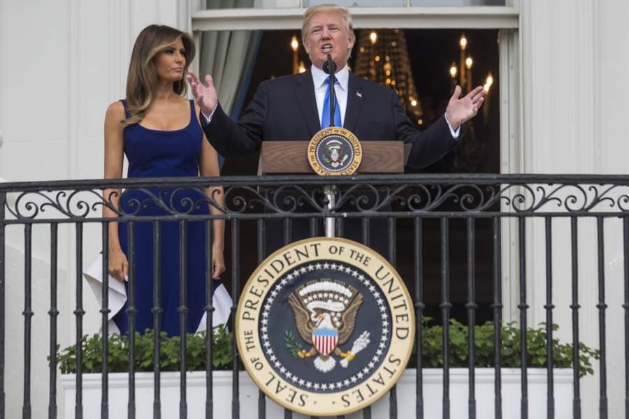 Comme à son habitude, Melania Trump était à ses côtés