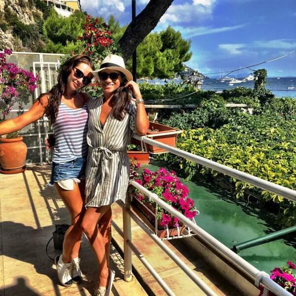 Jessica Mulroney et Meghan Markle en vacances à Positano, en Italie, en août 2016