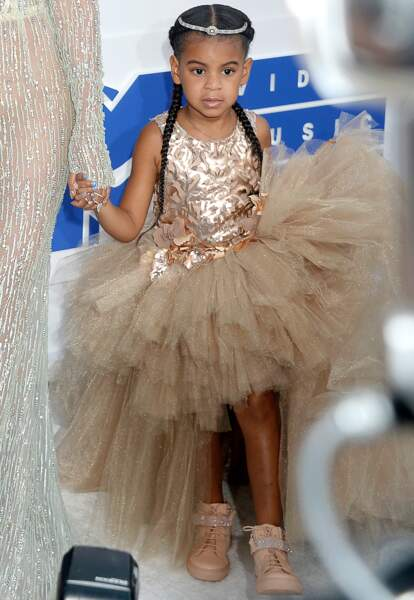 Blue Ivy Carter (la fille de Beyoncé et Jay-Z), aux MTV Video Music Awards  à New York, le 28 août 2016.
