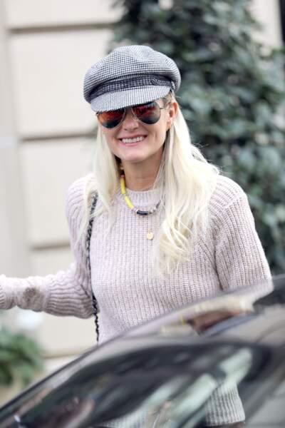 Malgré la bataille judiciaire, Laeticia Hallyday a gardé le sourire.