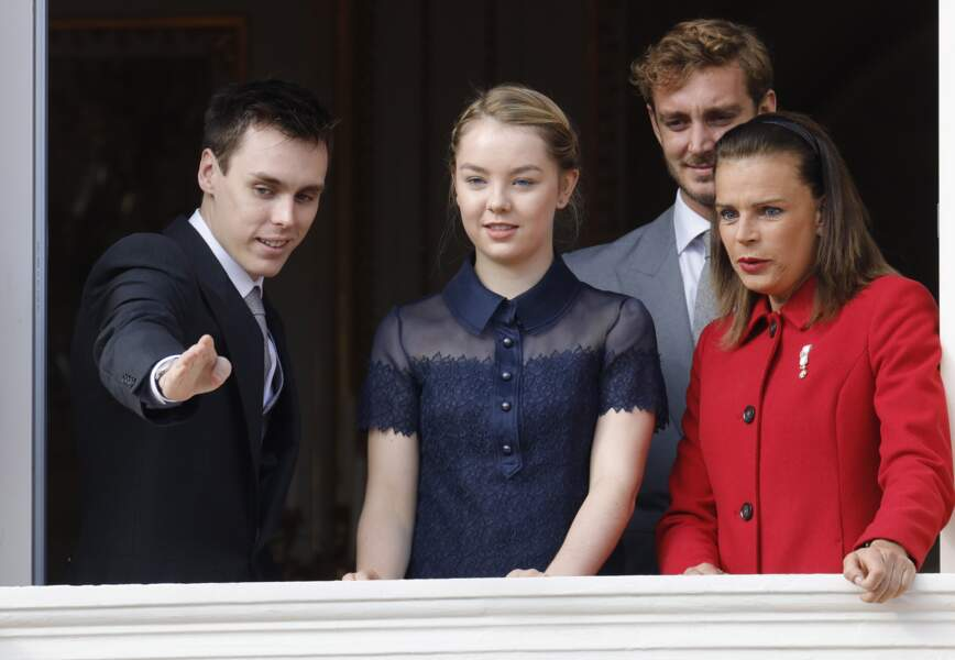 Louis Ducruet, Alexandra de Hanovre, Pierre Casiraghi, Stéphanie de Monaco 19 novembre 2015