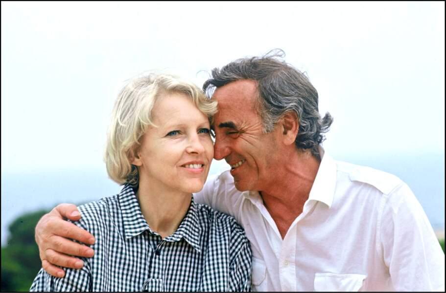 Charles Aznavour et sa femme Ulla en 1986