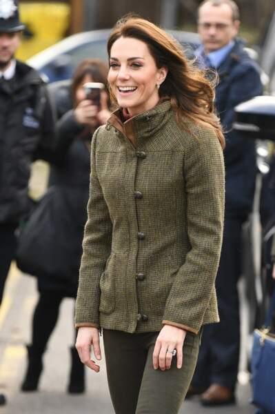Une mise en pratique qui a ravi Kate, pratiquant le jardinage avec ses enfants à Kensington