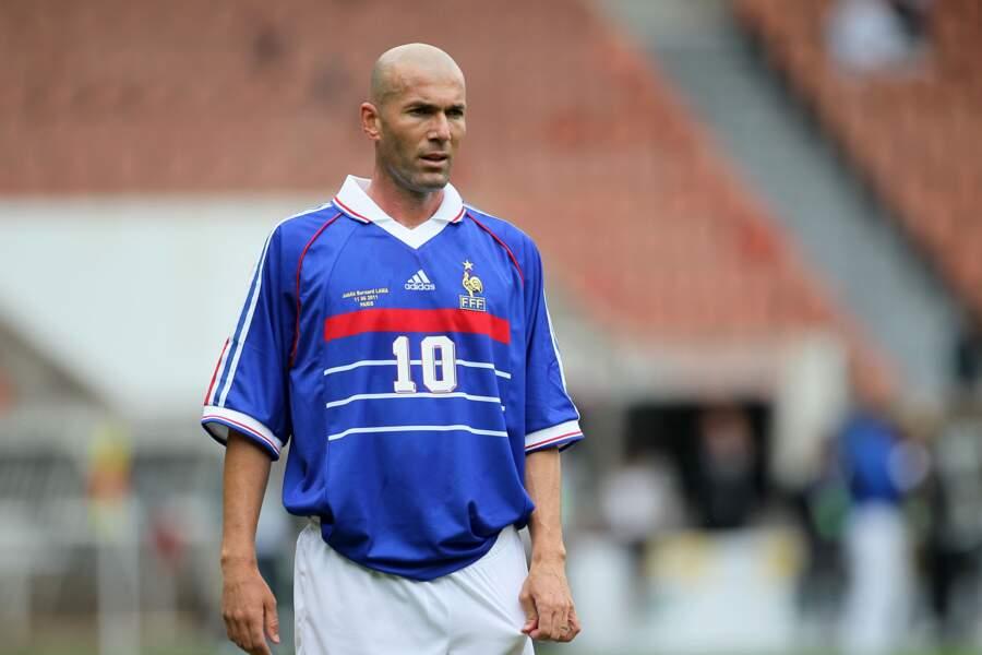 Zinédine Zidane lors du jubilé de Bernard Lama au Parc des Princes en 2011