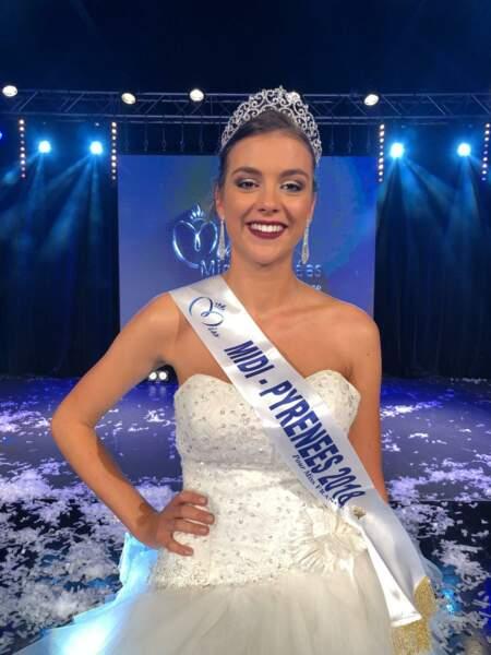 Axelle Breil, 19 ans, a été sacrée Miss Midi-Pyrénées et tentera de devenir Miss France 2019