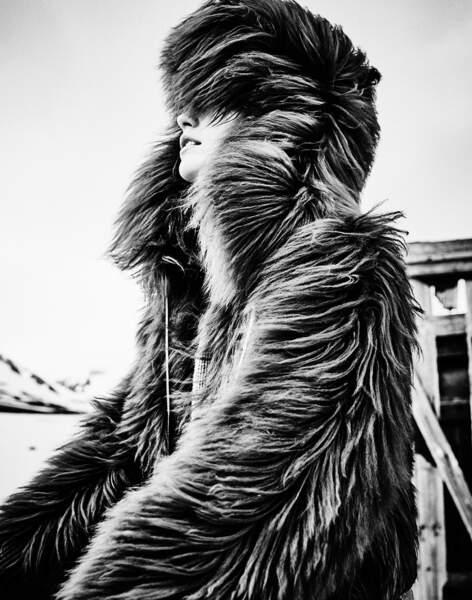 Dans notre Spécial Mode Hiver, Sonia Rykiel nous inspire un total look fausse fourrure.