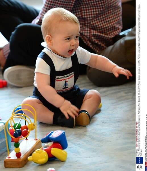 Prince George, âgé de 9 mois (le 9 avril 2014 à Wellington, Nouvelle-Zélande)