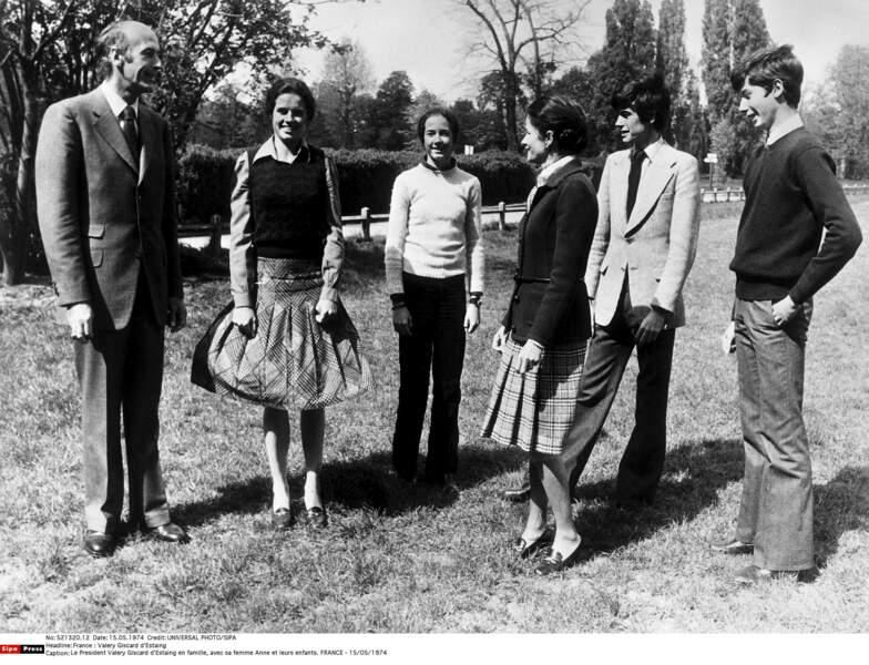 Valery Giscard d'Estaing en famille