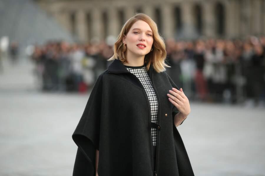 Radieuse, l'actrice française a posé pour les photographes.