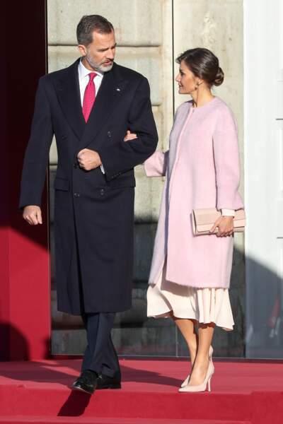 Toujours très élégants, Le roi Felipe VI et la reine Letizia d'Espagne