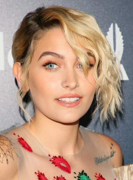 Le make up orangé de Paris Jackson