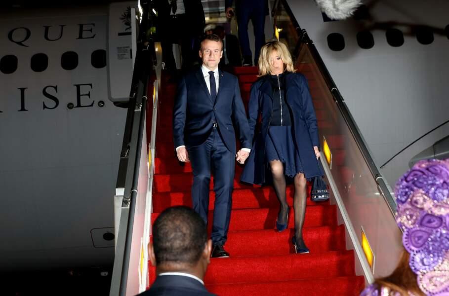 Emmanuel et Brigitte Macron au Sénégal le 1er février