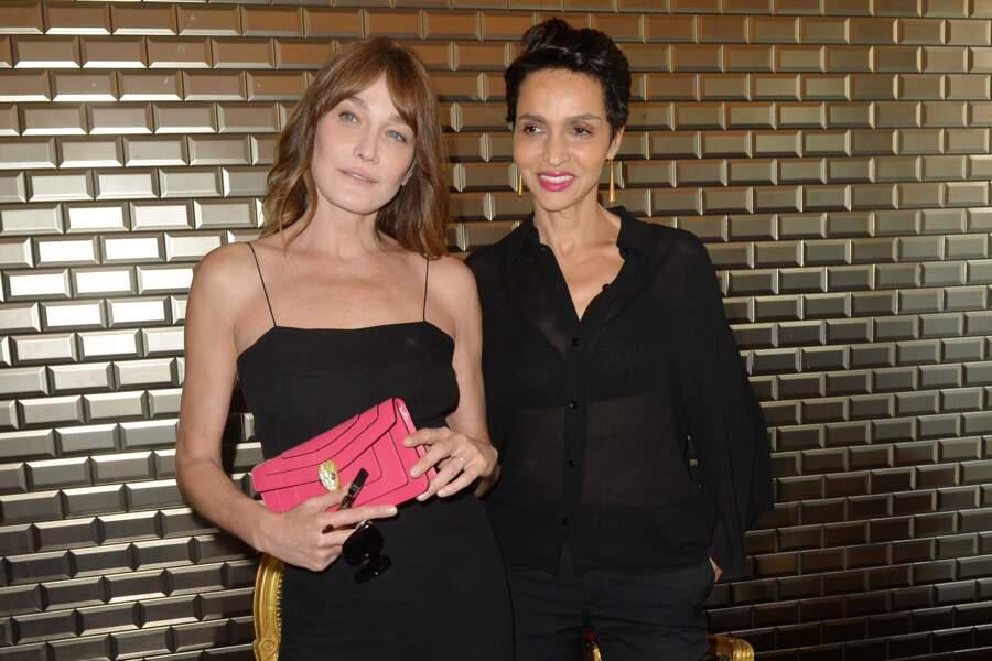 """Carla Bruni Sarkozy et Farida Khelfa au défilé """"Jean Paul Gaultier"""" le 5 juillet 2017"""
