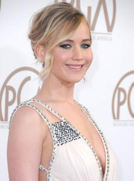 La mèche ondulée de Jennifer Lawrence