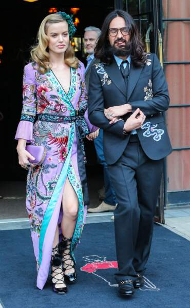 Alessandro Michele et Georgia May Jagger