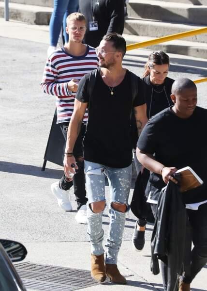 Justin Bieber et le pasteur Carl Lentz à Sydney le 4 juillet 2017
