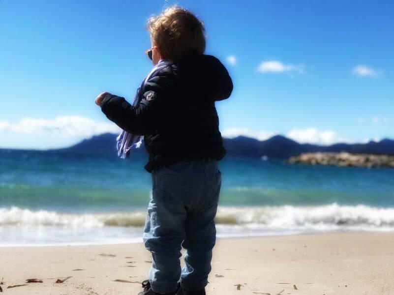 Un week-end en bord de mer pour Ingrid Chauvin et son fils Tom