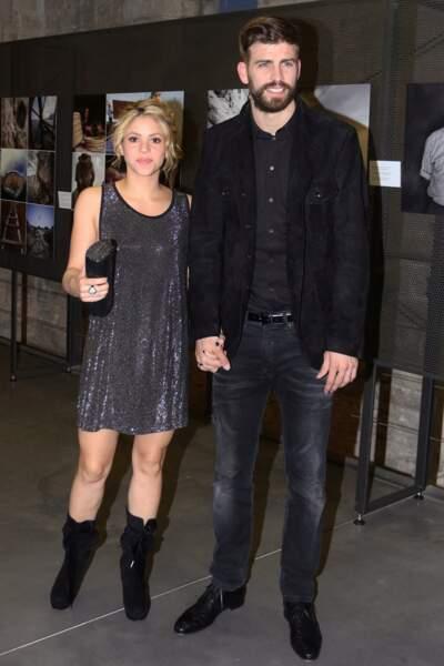 Le footballeur espagnol Gérard Piqué (31 ans), en couple avec la chanteuse Shakira (41 ans)