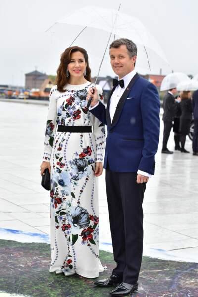 Mary et Frederik de Danemark au 80ème anniversaire du roi et de la reinede Norvège le 10 mai 2017 à Oslo