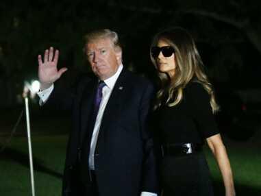PHOTOS - Melania Trump critiquée pour ses lunettes de soleil lors de l'hommage aux victimes de Las Vegas