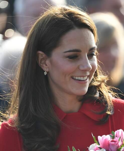 Kate Middleton, en déplacement en Irlande du Nord pour deux jours avec son époux le prince William.