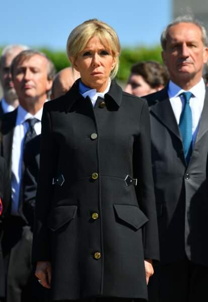 Brigitte Macron le 25 mai en Russie tout en noir