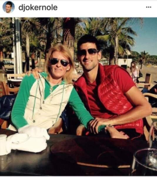 Novak Djoković et sa maman