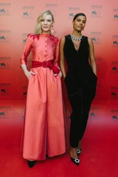 Tina Kunakey et Cate Blanchett, deux icônes glamour