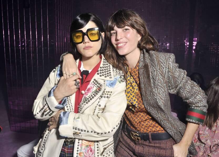 SoKo et Lou Doillon chez Gucci