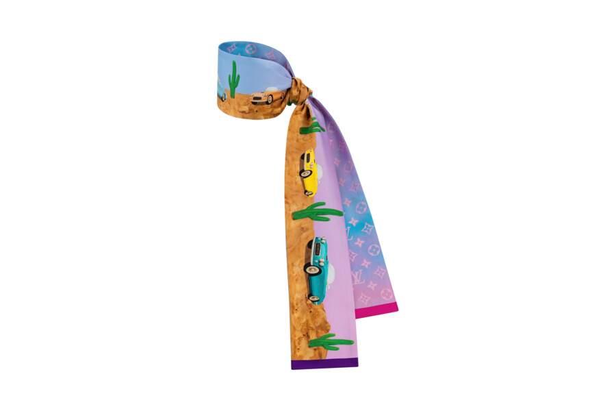 Tendance rétro : autour du poignet ou dans les cheveux. Bandeau Desperado, 160 €, Louis Vuitton x Axel Israel.