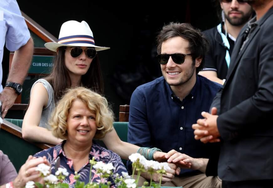 Le chanteur Vianney et sa compagne Catherine Robert à Roland-Garros