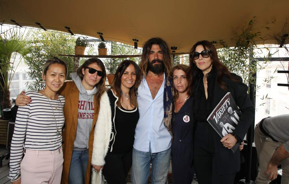 Monica Bellucci et son compagnon Nicolas Lefebvre étaient ravis de participer à cette journée