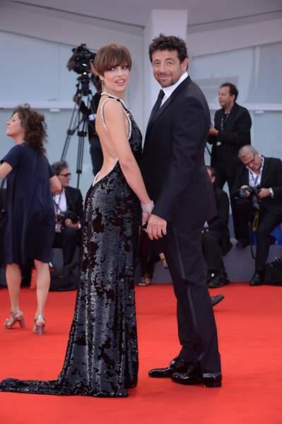 "Patrick Bruel et Micaela Ramazzotti, sa partenaire dans le film ""Una Famiglia"", à la Mostra de Venise en 2017"