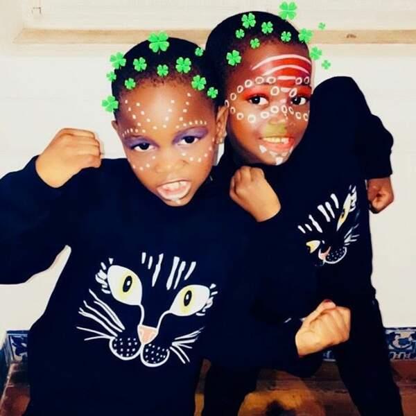 Estere et Stella, les jumelles de Madonna, fêtent la St Patrick sur les réseaux sociaux