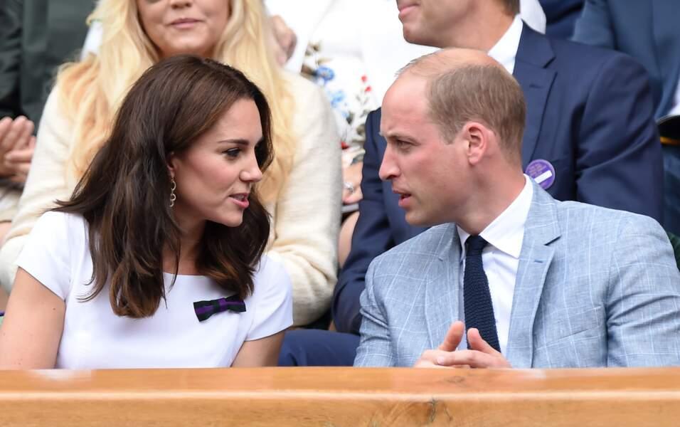 Kate et William étaient très complices en tribunes