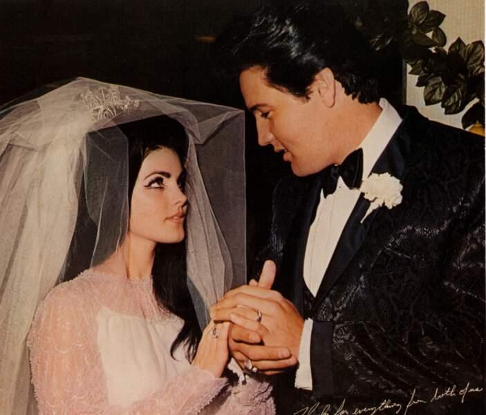 Lors de son mariage avec Elvis en 1967