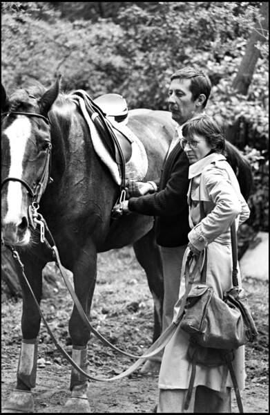 Jean Rochefort et sa première épouse Alexandra Moscwa en 1977