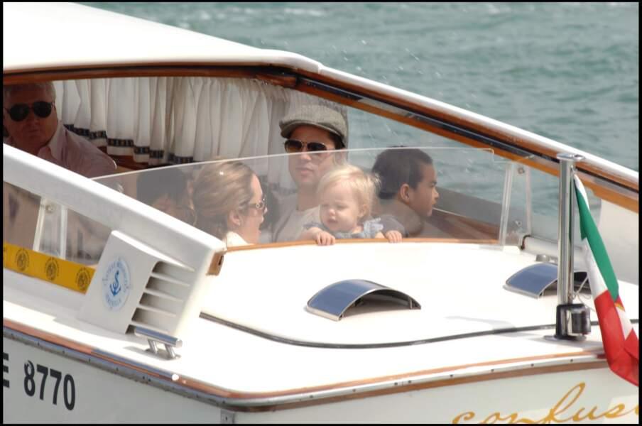 Shiloh Jolie-Pitt, en famille à Venise, en septembre 2007