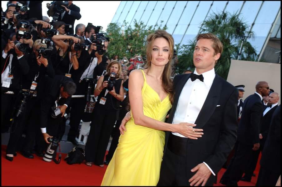 Angelina Jolie et Brad Pitt au Festival de Cannes en 2007